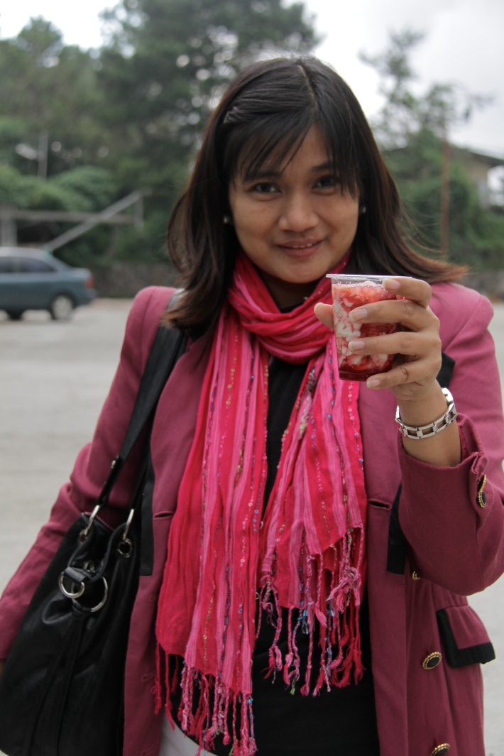 Baguio: Strawberry Taho Anyone?